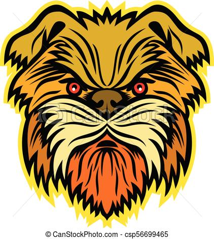 422x470 Affenpinscher Monkey Dog Mascot. Mascot Icon Illustration