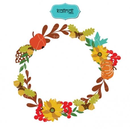 458x458 Flower Wreaths Svg, Monogram Frames Svg File.