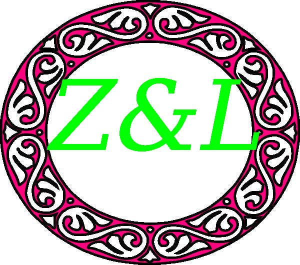 600x530 Letter Zampl Monogram Clip Art