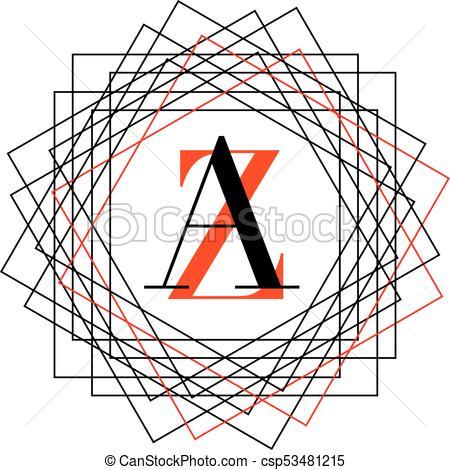 450x470 Abstract Monogram Vector Illustration Vector Clip Art