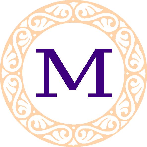 594x596 M Monogram Clipart Monogram M Clip Art