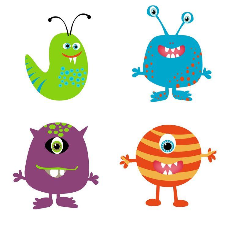 736x736 Cute Clip Art Monsters Clipart Image 2