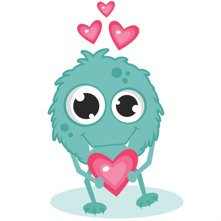 432x432 Monster Clipart Monster In Love Svg Cutting Files Monster Svg Cut