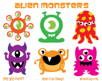 340x270 Monsters Clipart Aliens Clip Art Kids Party Clipart
