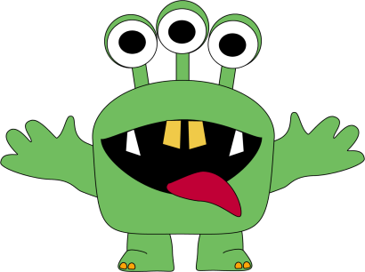 410x306 Monster Clipart For Kids Three Eyed Monster Clip Art Image