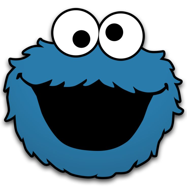 736x736 Cookie Monster Face Coloring Pages