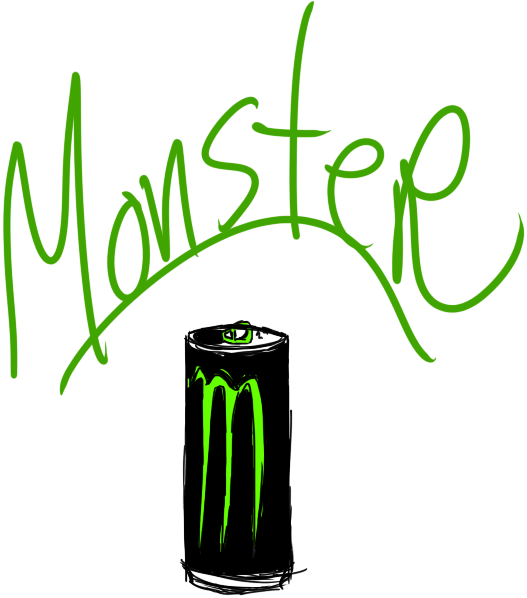 527x598 Monster Energy Quick Drawing By Twiztidmintzart
