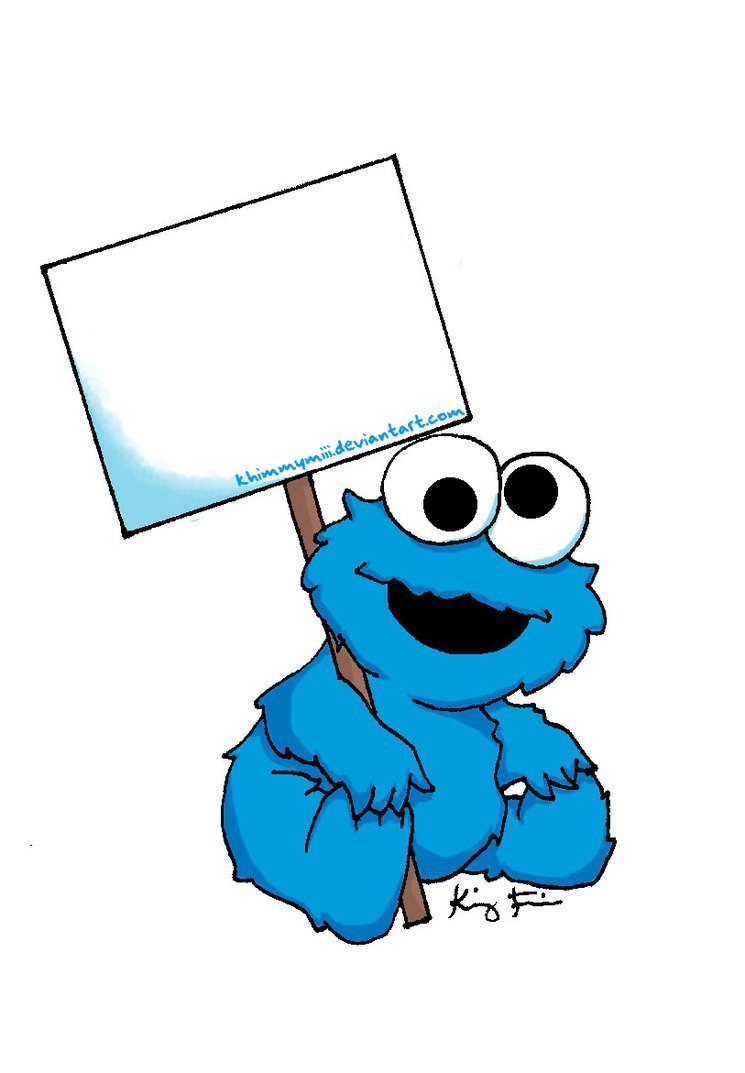 745x1073 Printable Cookie Monster Clipart