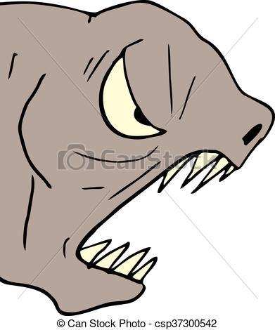 391x470 Creative Design Of Monster Face Eps Vector
