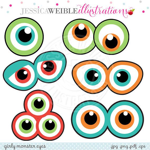 570x570 Monster Eyes Cute Printable Birthday Party Favors Printable