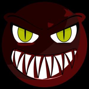 300x300 Red Monster Face Clip Art