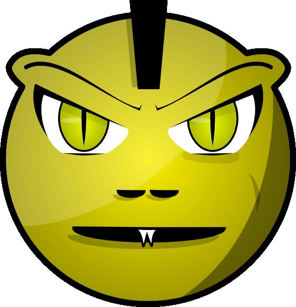 576x598 Scary Face Clip Art