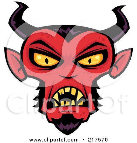450x470 Unique Evil Face Clipart