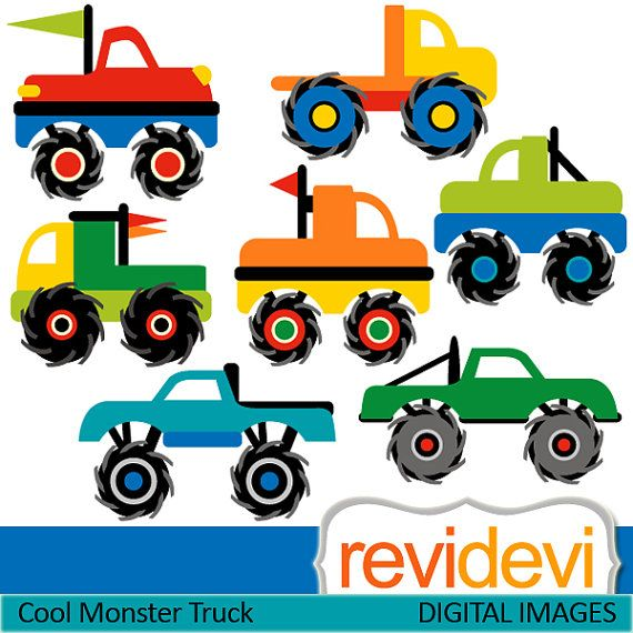 570x570 Monster Trucks Clip Art Digital Cool Monster Truck Cliparts