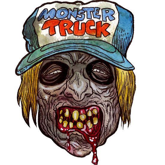 550x550 Monster Truck Zombie Art Design Monster Redbubble
