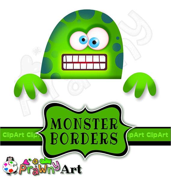 570x591 Cartoon Monster Border Clip Art Kids Page Design Elements