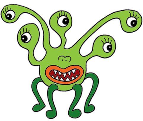 483x409 Cute Monster Clipart