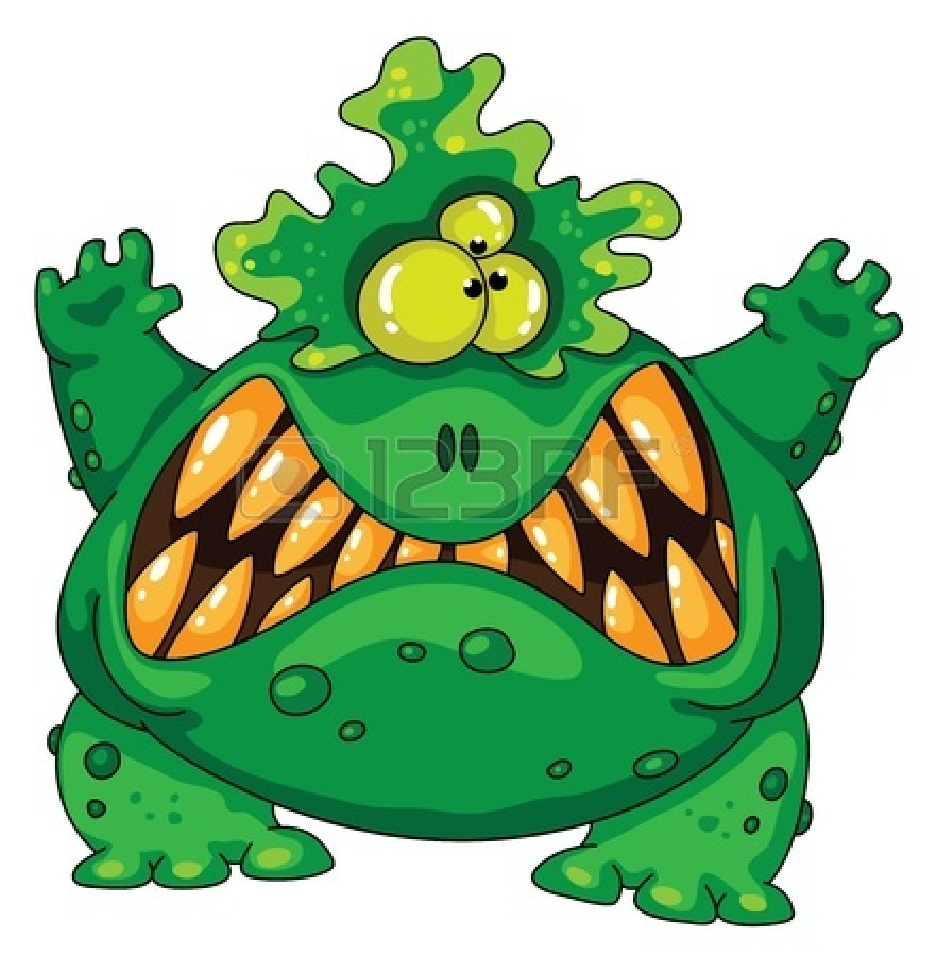 1320x1350 Scary Monster Free Clipart