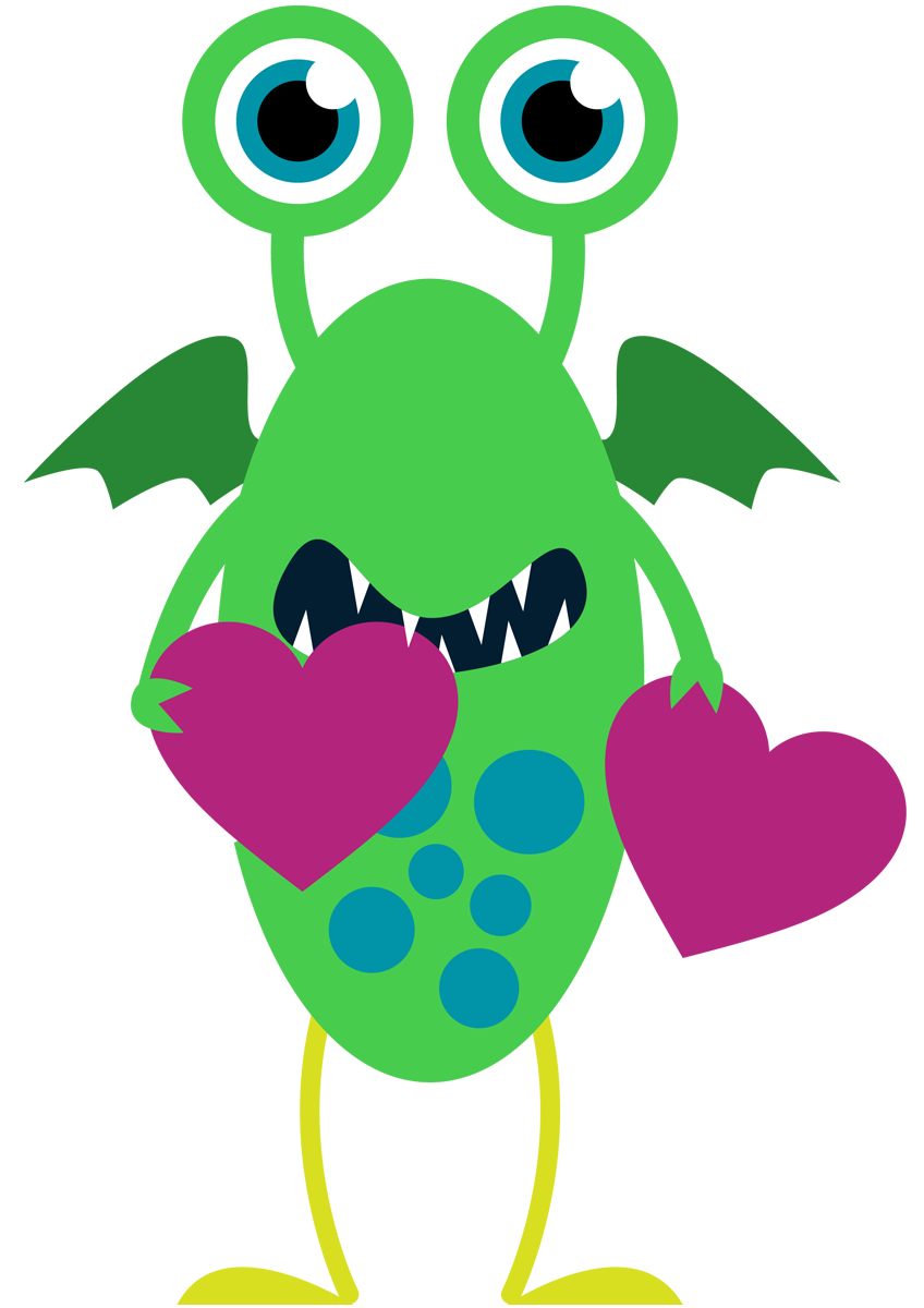 848x1200 Fluffy Clipart Happy Monster