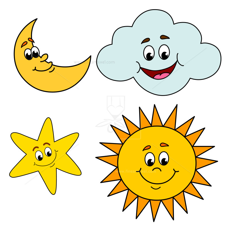 800x804 Free Sun Moon And Stars Clipart