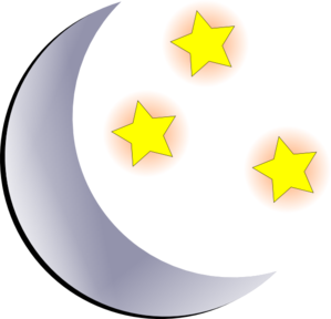 299x288 Moon And Stars Clip Art
