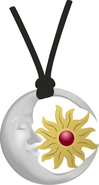 340x633 Sun And Moon Pendant Clip Art