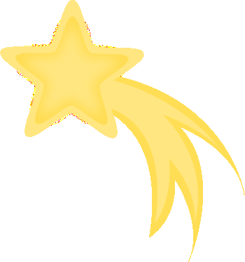 350x373 Shooting Star Clip Art Falling Star Free Clipart The Moon