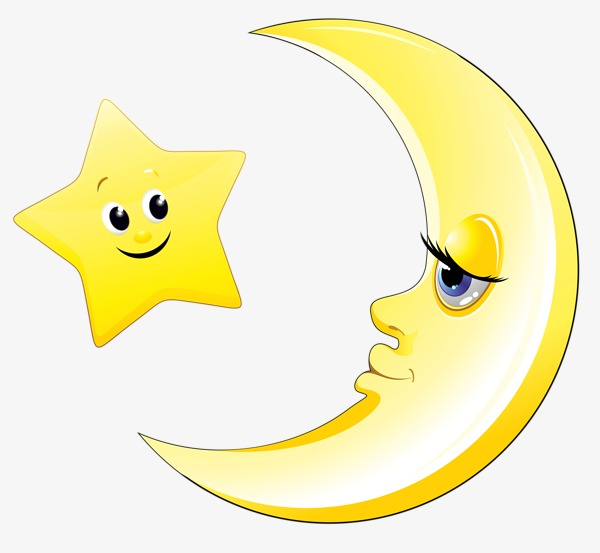 600x553 Cartoon Stars The Moon, Star, Moon, Yellow Png Image