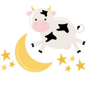 300x300 Cow Moon Clipart Pencil And In Color
