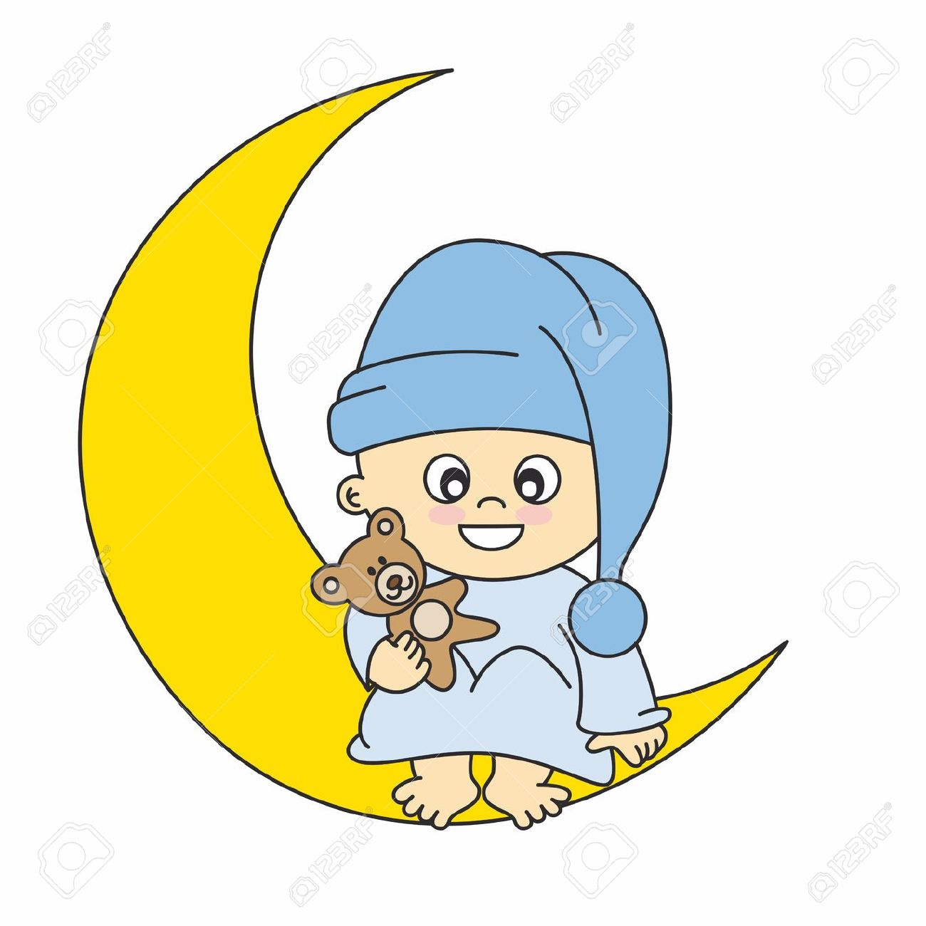 1300x1300 Collection Of Baby Sleeping On Moon Clipart High Quality