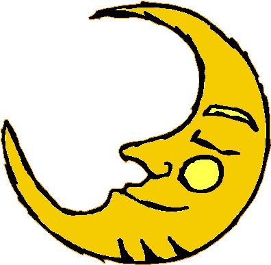 396x387 Sleeping Moon Clipart