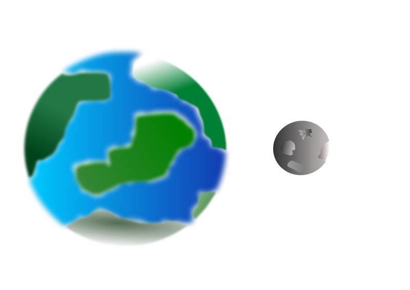 800x566 Free Clipart Planet With Moon Cprostire