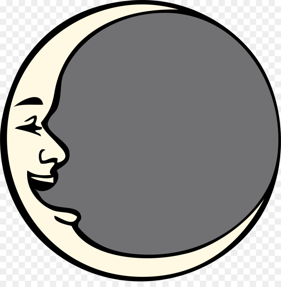 900x920 Man In The Moon Lunar Phase Smiley Clip Art