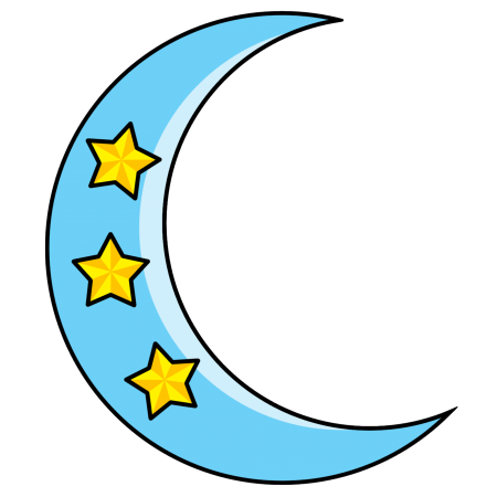 450x450 New Crescent Moon Clip Art