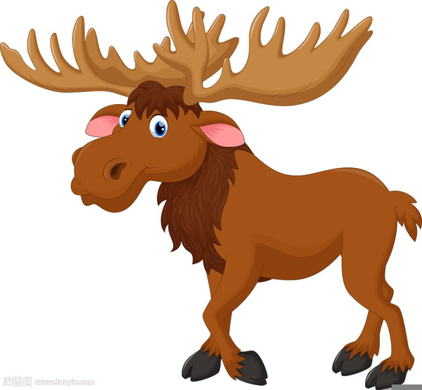 600x555 Moose Clipart Cartoon Free Images