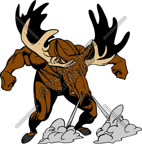 495x500 Moose Clipart Football
