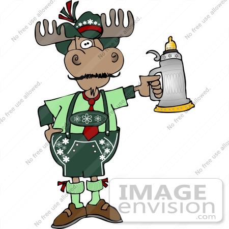 450x450 Oktoberfest Moose Clipart