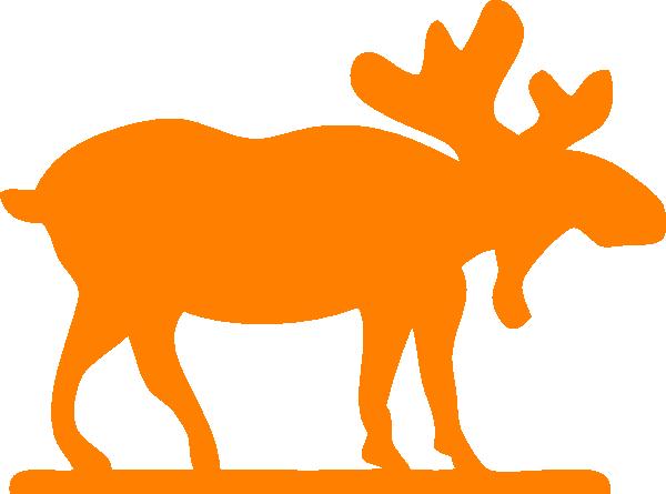 600x445 Orange Moose Clip Art