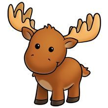 220x220 Cute Moose To Draw