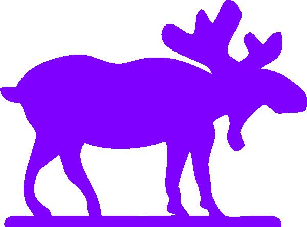 600x445 Purple Moose Purple Moose Clip Art