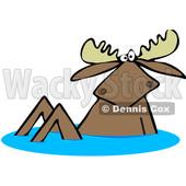 170x170 Bull Moose Riding A Recreational Atv Four Wheeler Clipart Djart