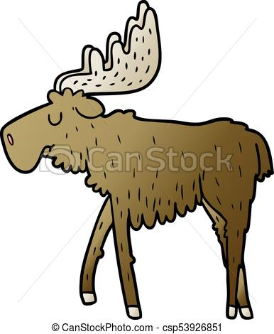 386x470 Cartoon Moose.