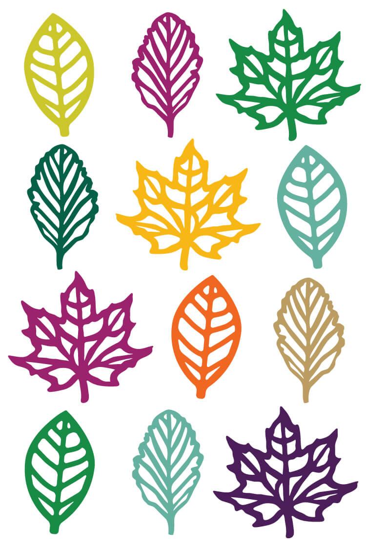 750x1125 Fall Leaf Clip Art