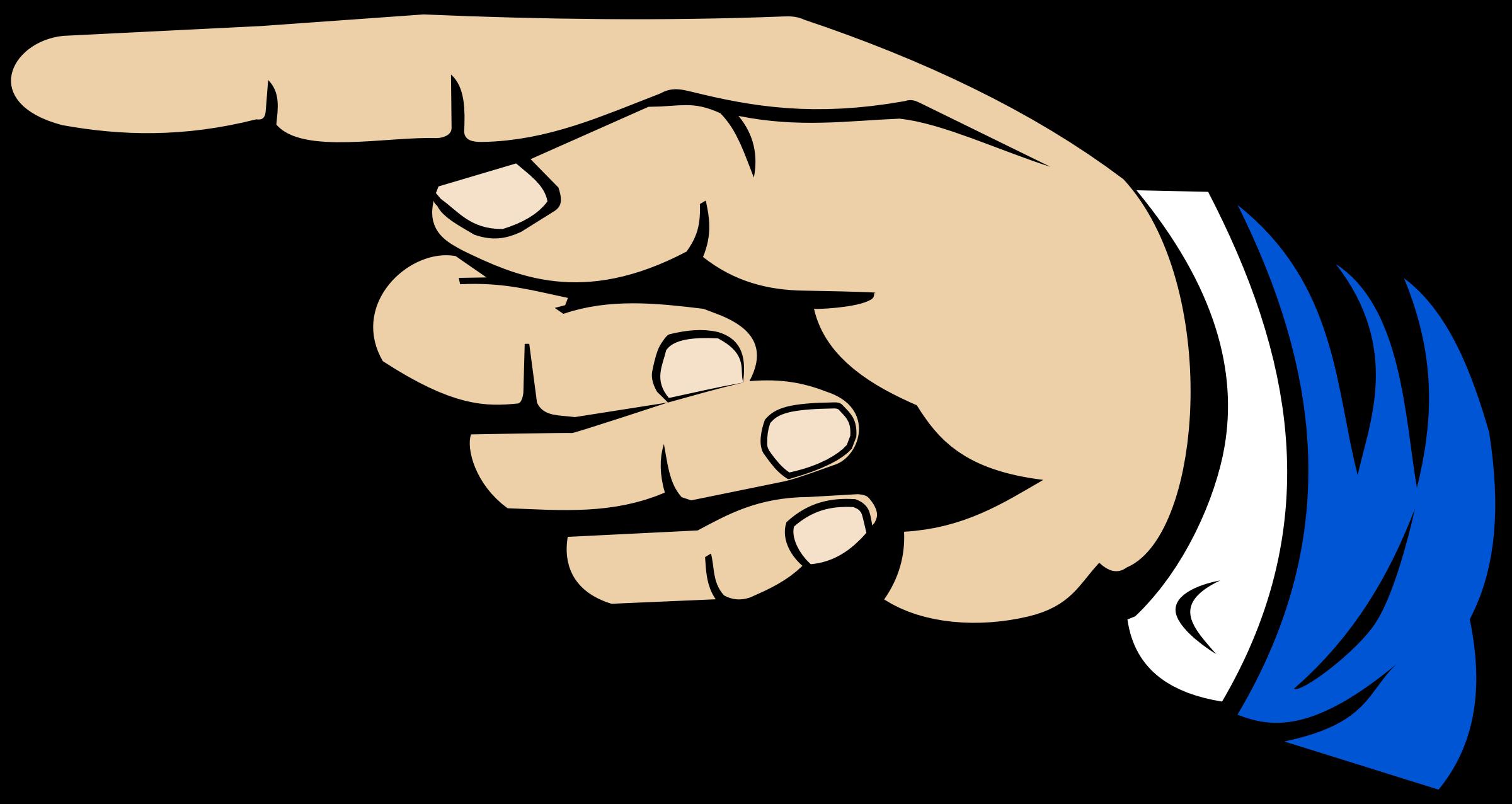 2400x1276 Thumb Index Finger Digit Clip Art