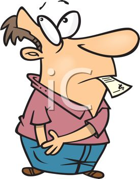 275x350 Cartoon Of A Man Reaching Into His Pocket Looking For More Money