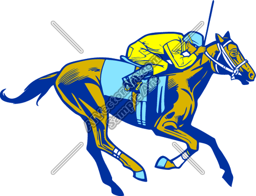 500x383 Horse Race Rider On Race Horse Clipart And Vectorart Sports