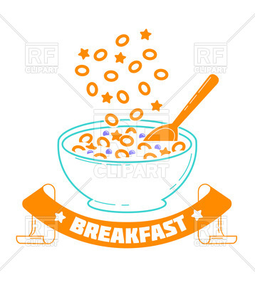 358x400 Icon Cereal Day, Breakfast, Good Morning Royalty Free Vector Clip