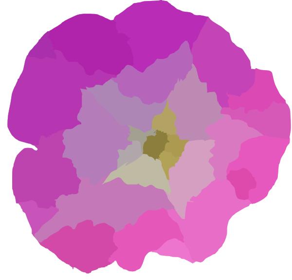 600x575 Pink Glory Flower Clip Art