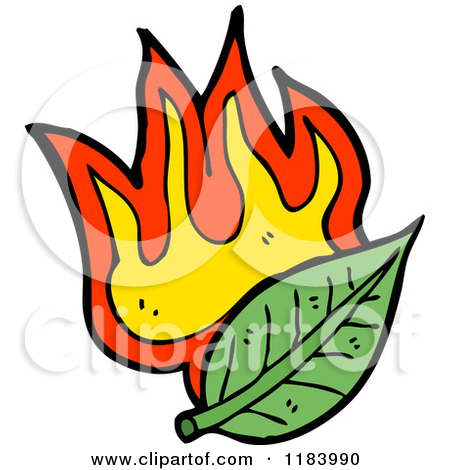 450x470 Burning Leaves Clipart