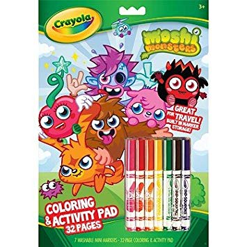 355x355 Crayola Moshi Monsters Colouring Amp Activity Pad Book 32 Pages